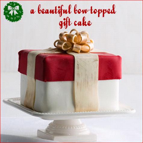 Christmas Bow Cake
