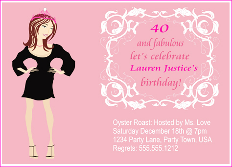 40 fabulous custom birthday invitation the posh guide the lauren 40 and fabulous custom birthday invitation filmwisefo