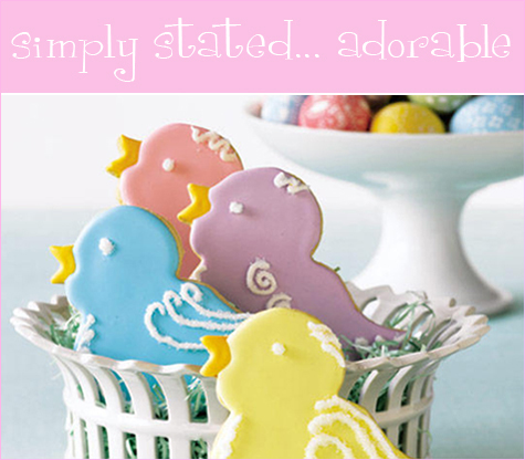 Easter Inspiration: Adorable Sweet Treats - Baby Bird Cookies