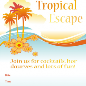Entertaining Inspiration: Tropical Summer Escape Invite