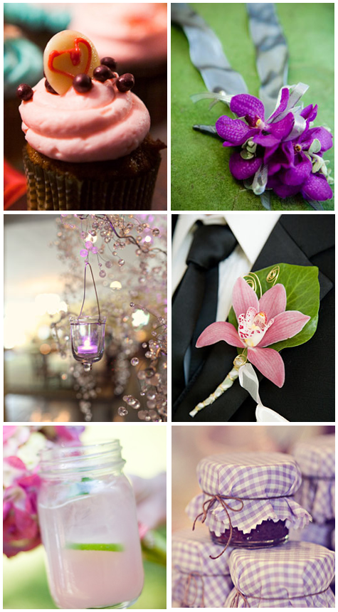 Wedding Inspiration: Pink + Purple