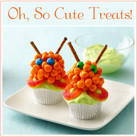 Recipes - Halloween Treats {Awesome Alien Cupcakes}