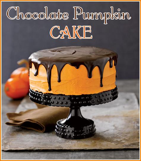 Halloween Recipes {Chocolate Pumpkin Cake}