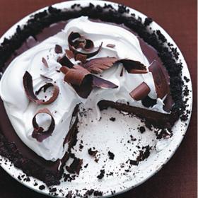 Bittersweet Chocolate Pudding Pie