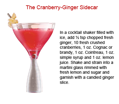{Holiday Cheers} Guide To The Best Thanksgiving Cocktails: The Cranberry-Ginger Sidecar