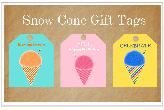 Free Printable Snow Cone Gift Tags