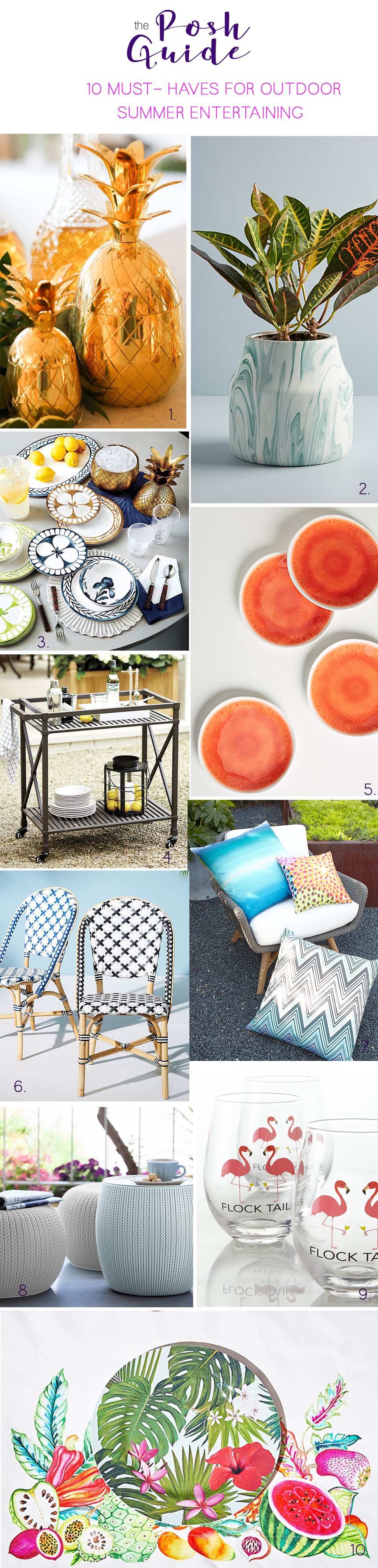 10 Must-Haves for Summer Outdoor Entertaining