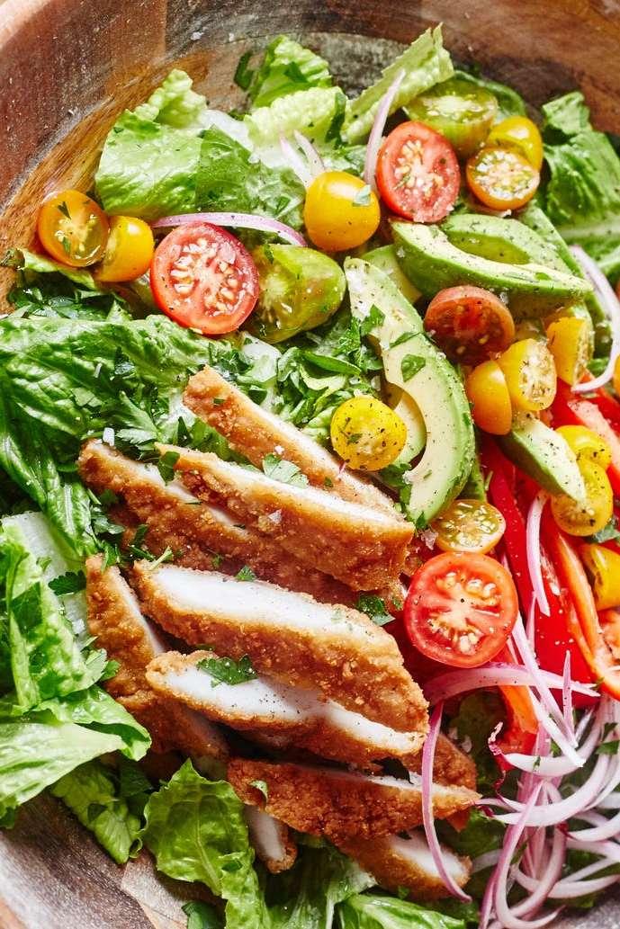 Honey Mustard Chicken Tender Salad