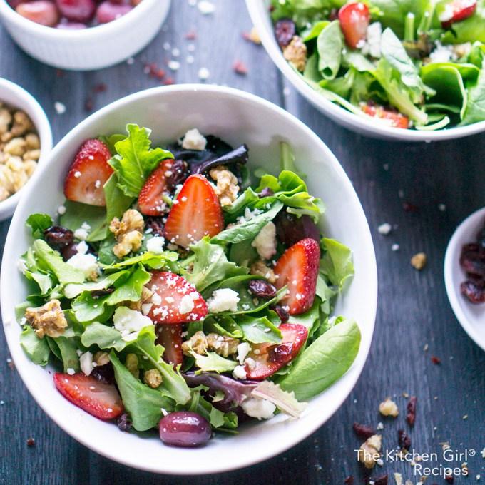 Strawberry Spring Salad with Lemon Dijon Vinaigrette