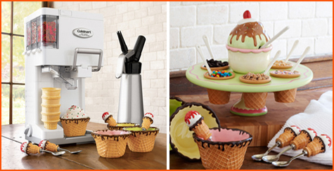 Sur la table Ice Cream Topping Carousel