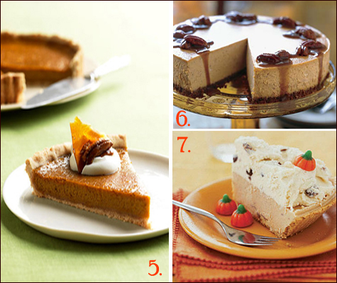 Thanksgiving Pumpkin Desserts