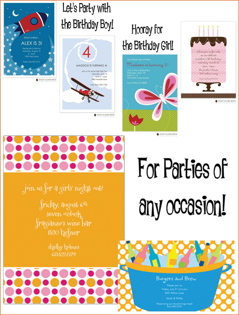 Busy Bee Paperie: Party Invitations