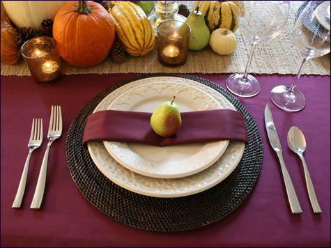 Stylish Thanksgiving Tables: Natural Elements