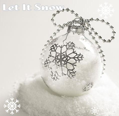 DIY Christmas Ornaments: Let It Snow