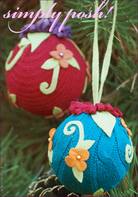 DIY: Chic Sweater Ornaments