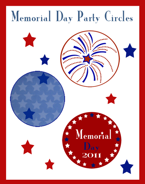 Party Inspiration: Memorial Day Printables- Party Circles