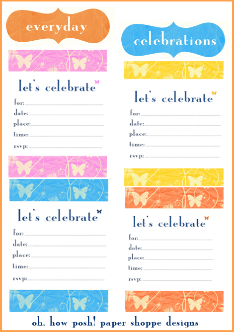 Summer Butterfly Invitations - oh, how posh! paper shoppe