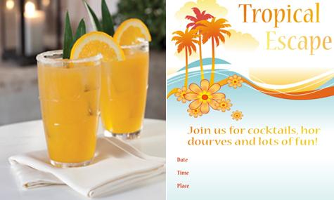 Weekend Entertaining Inspiration: Tropical Summer Escape