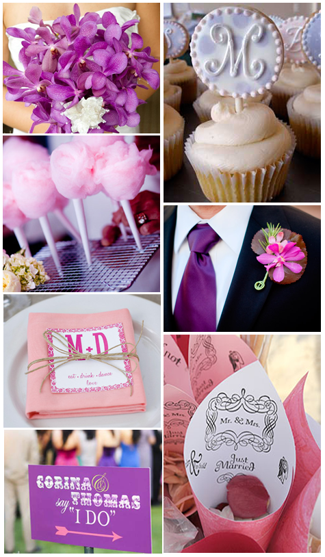 Wedding Inspiration: Pink + Purple