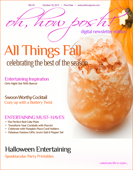 Posh Entertaining Style Weekly Newsletter: {All Things Fall}