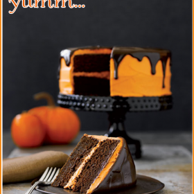 Halloween Recipes {Chocolate Pumpkin Cake}