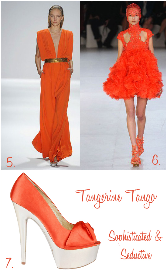 {Pantone 2012 Color of The Year} TANGERINE TANGO
