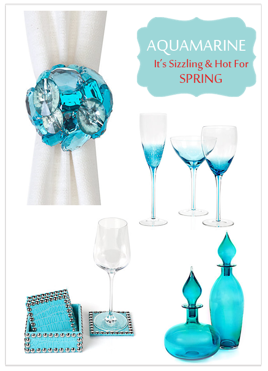 {Trend Alert} Spring's Hot New Hue: Aquamarine