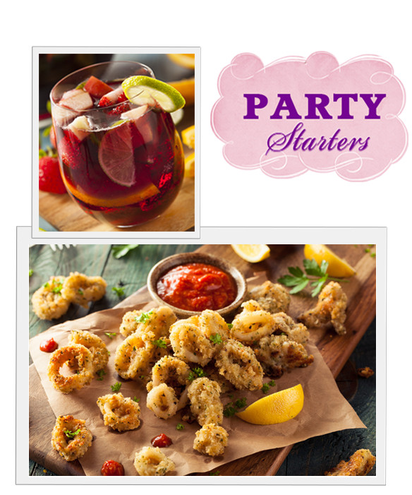 {PARTY STARTERS} Sangria & Calamari