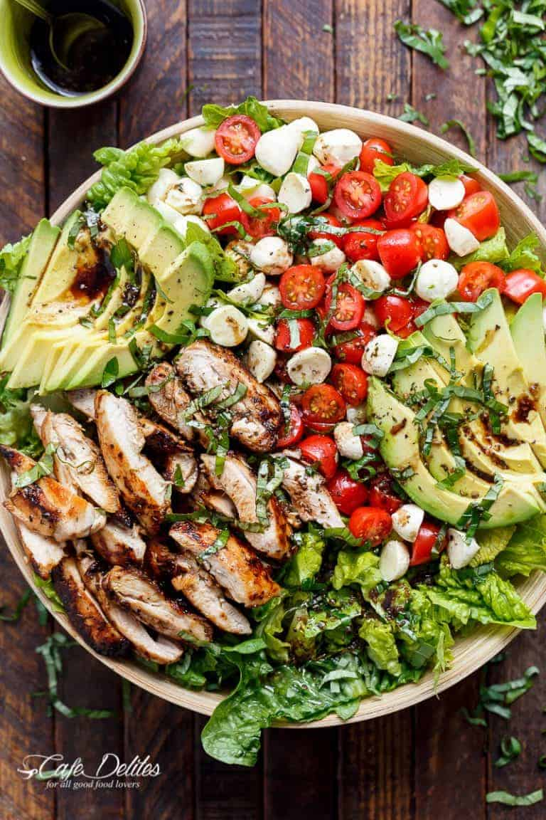 Fresh & Simple Spring SaladsChicken-Avocado-Caprese-Salad
