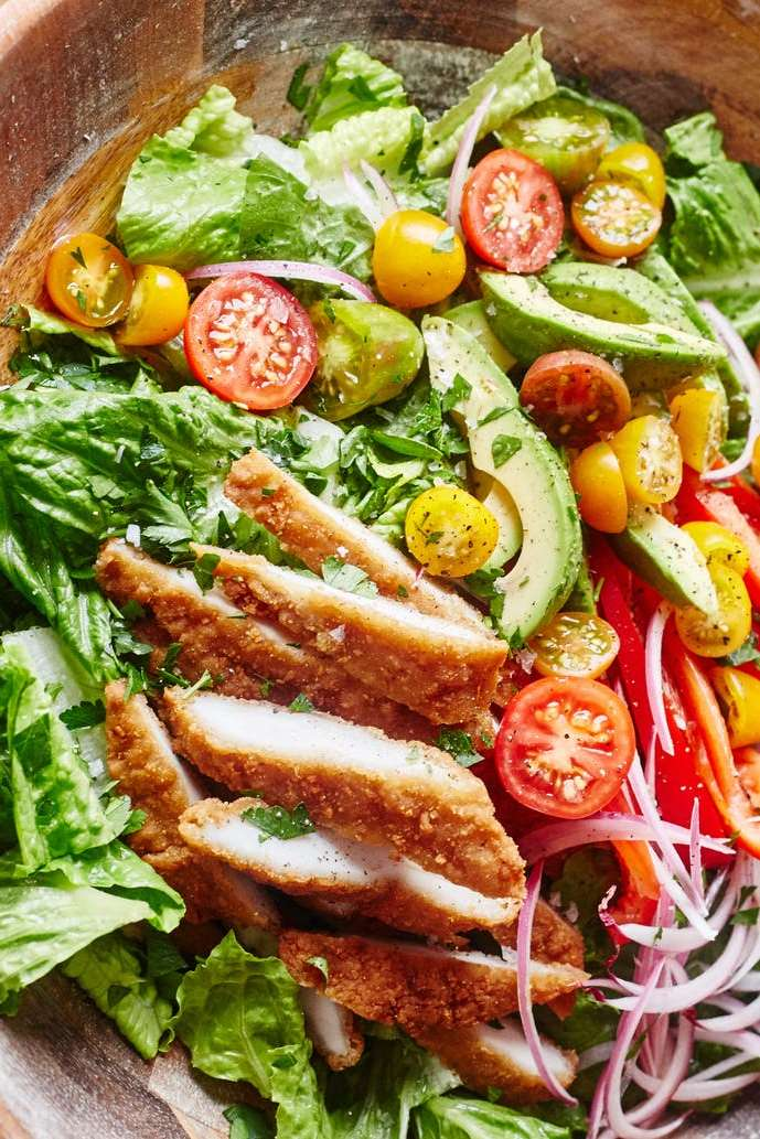 Honey Mustard Chicken Tender Salad