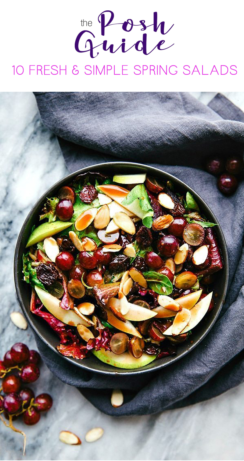 FRESH & SIMPLE SPRING SALADS - CHERRY BALSAMIC MIXED GREEN SALAD
