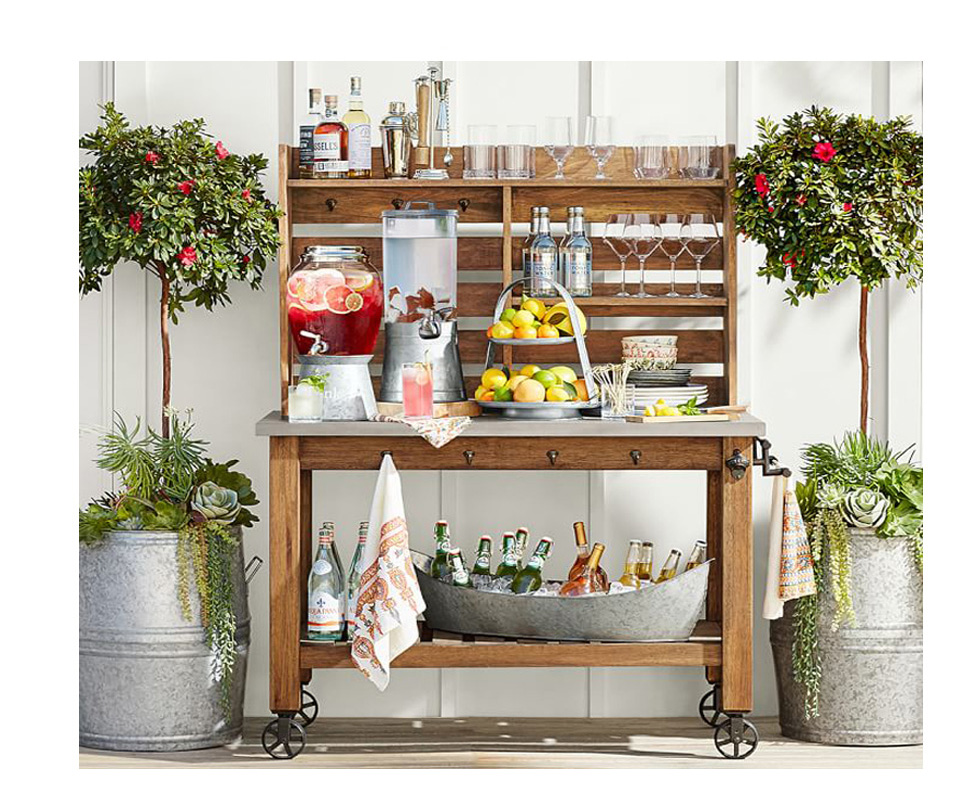 5 Summer Bar Cart Essentials - Abbott Island and Hutch
