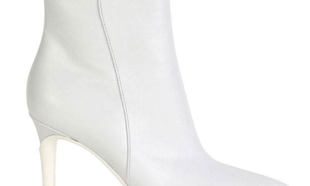 STYLE ESSENTIAL : WHITE SOFT POINTED ZIP BOOTIES