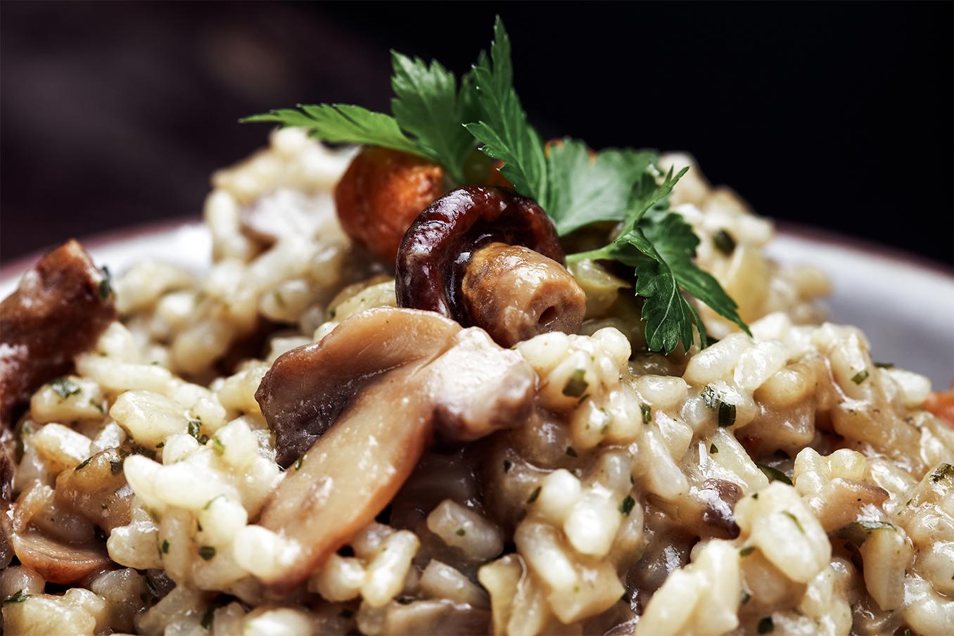 Mushroom Parmesan Risotto | The Posh Guide